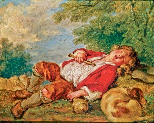 """Pochodzący z połowy XVIII wieku obraz Françoisa Bouchera, """"Śpiący pasterz"""", został najprawdopodobniej zniszczony."""