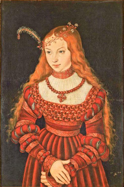 """Lucas Cranach Starszy """"Sybilla, księżna Cleves"""", 1526"""